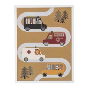 Kinderposter & schilderij Bloomingville Wit Hout