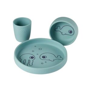 Kinderservies Done by Deer Blauw Siliconen