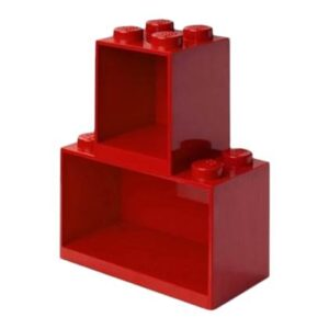 Kinder wandplank LEGO Rood Polypropyleen